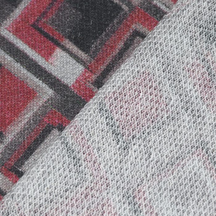 Pletivo, geometrijski, 21776-77, bordo