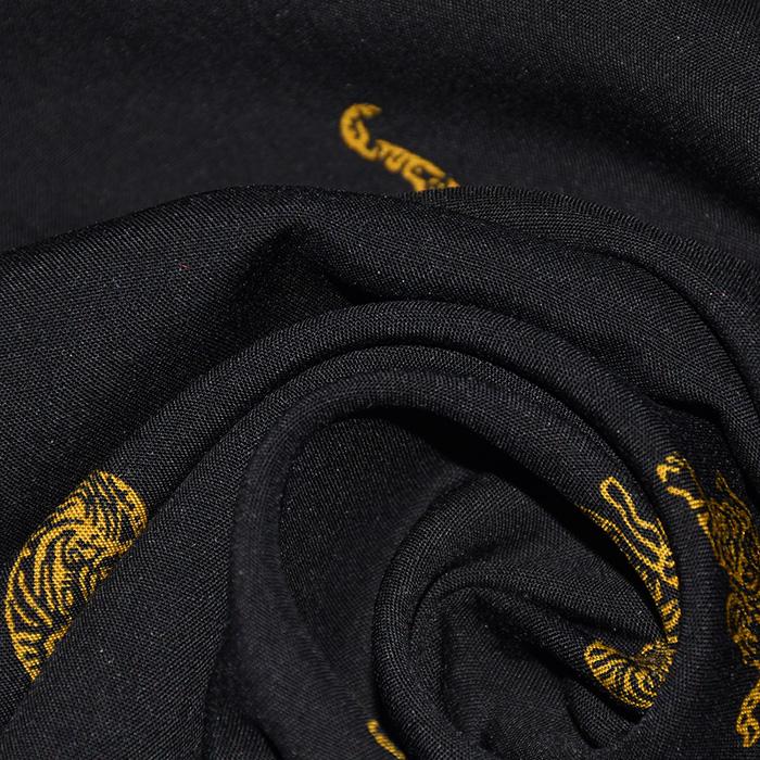 Tkanina, viskoza, živalski, 21990-011, črna