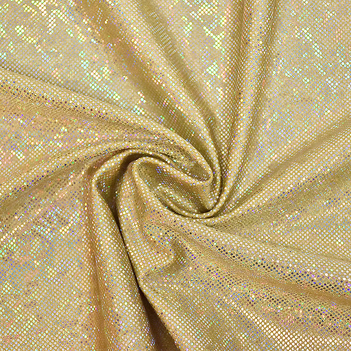 Poliamid, elastan, Honey Hologram, 22037-17, zlata