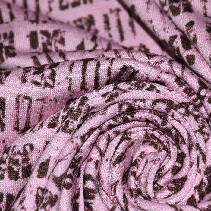 Jersey, viskoza, geometrijski, 21776-99, roza