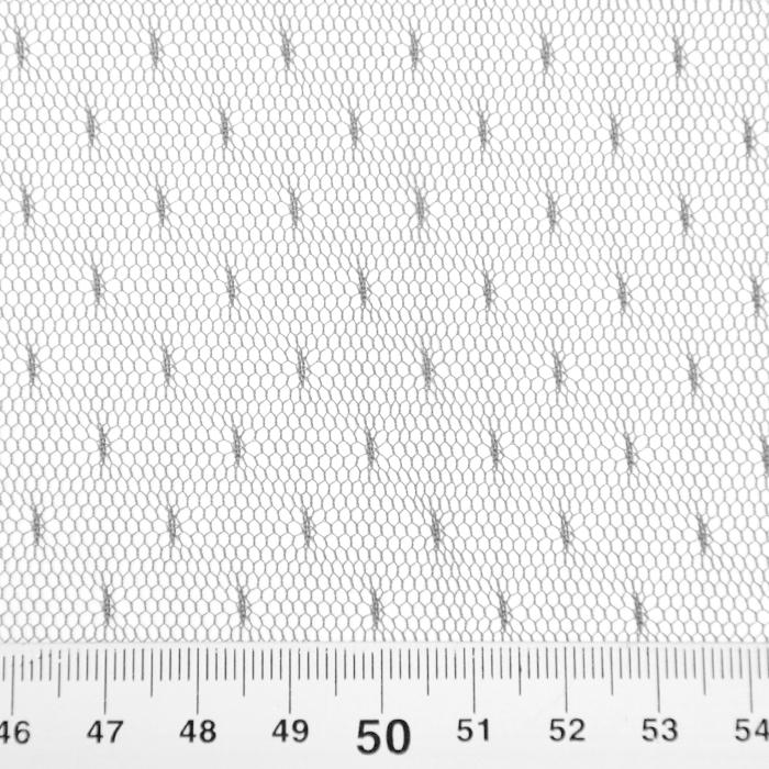 Mreža, prožna, pike, 19002-49, siva