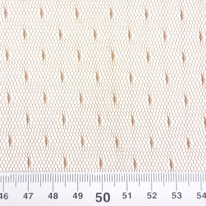 Mreža, elastična, točke, 19002-50, smeđa