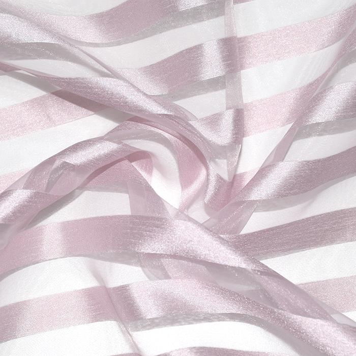 Organza, črte, 22280-1202, roza