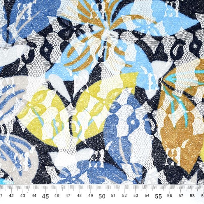 Čipka, prožna, cvetlični, 21776-124