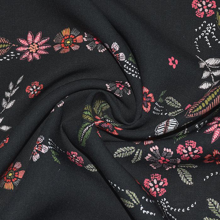 Tkanina, viskoza, cvetlični, 21776-127