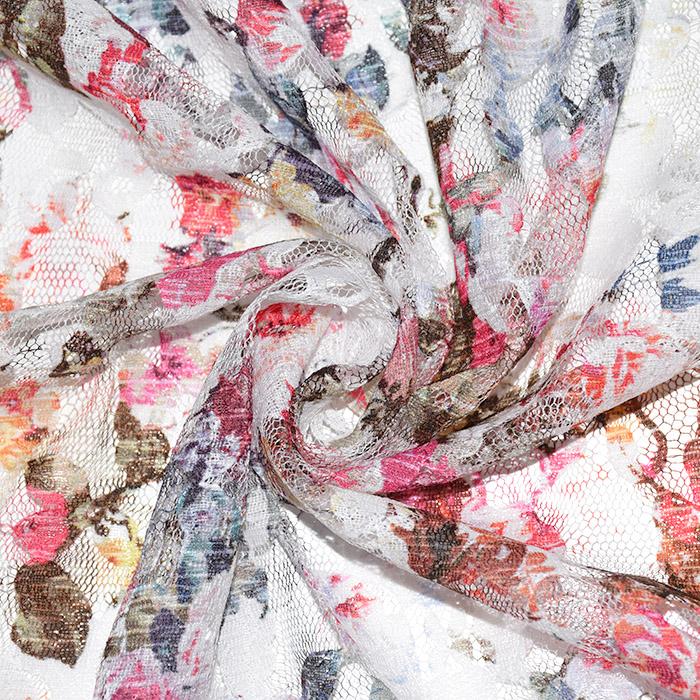 Čipka, prožna, cvetlični, 21776-132