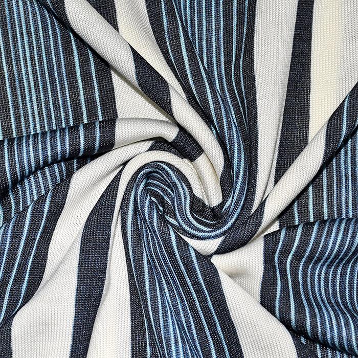 Pletivo tanjše, črte, 21776-107, modra