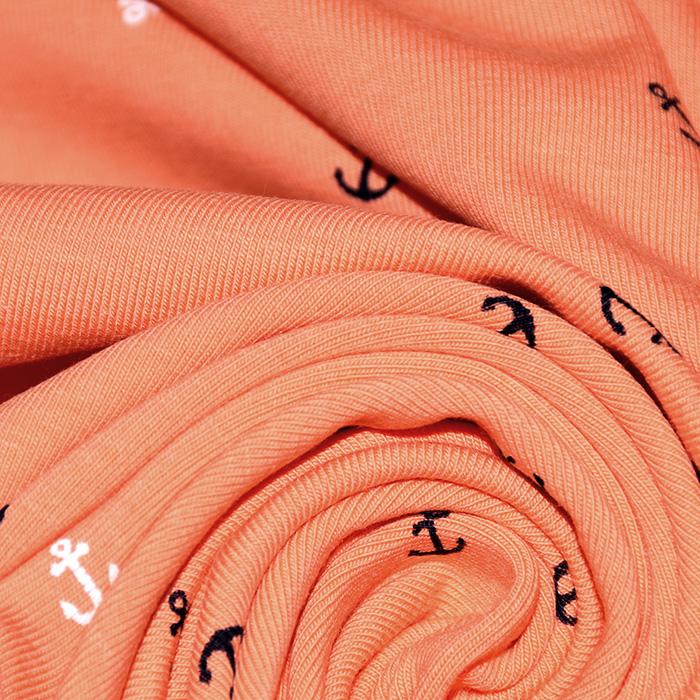 Jersey, bombaž, morski, 22317-011, oranžna