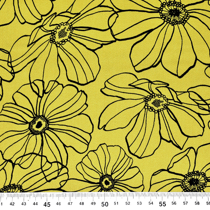 Saten, bombaž, cvetlični, 22302-010