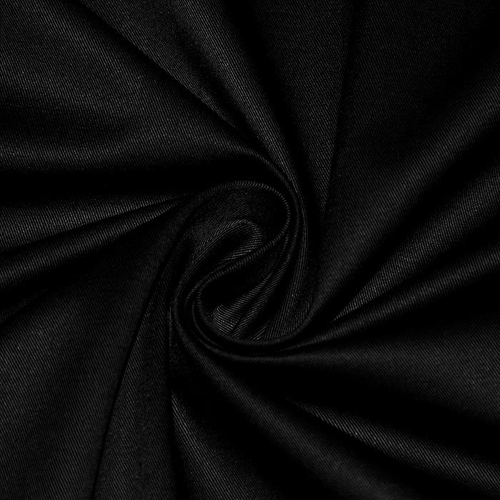 Bombaž, keper, elastan, 22363-069, črna