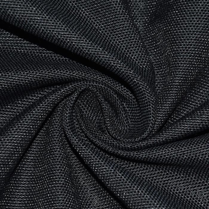 Reciklirana deko tkanina, Evian, 22437-42, črna