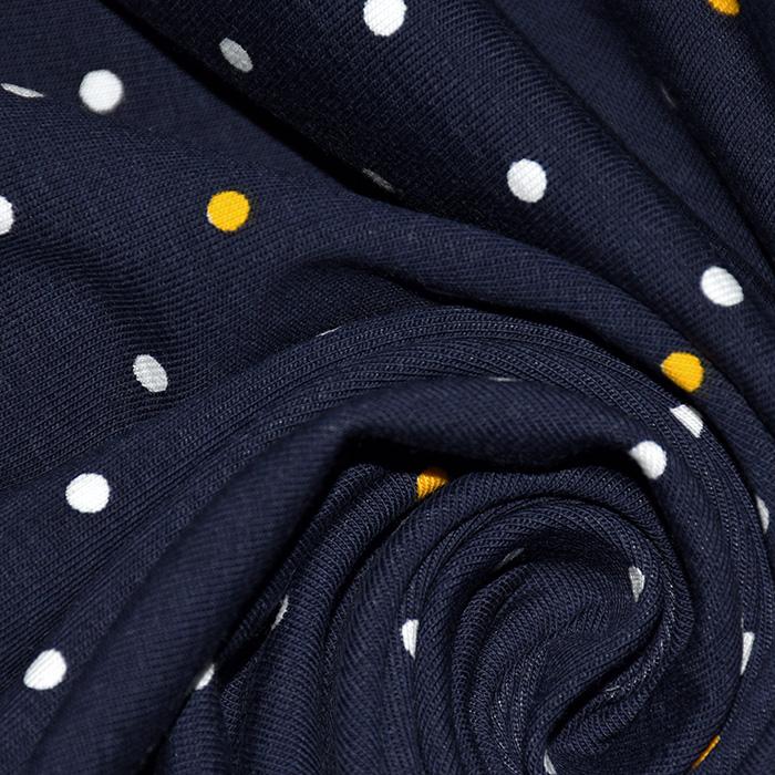 Jersey, pamuk, točke, 22492-3007, tamnoplava