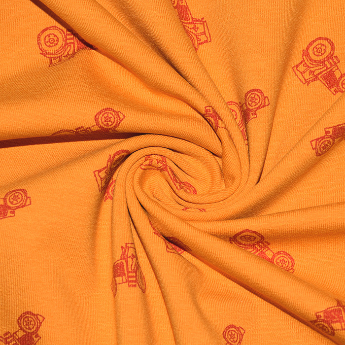 Jersey, bombaž, otroški, 22512-3002, oranžna