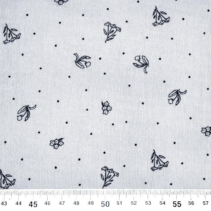 Tetra tkanina, dvojna, cvetlični, 22514-4002, siva