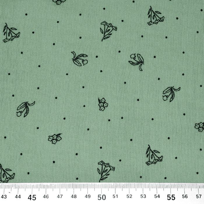 Tetra tkanina, dvojna, cvetlični, 22514-5037, zelena