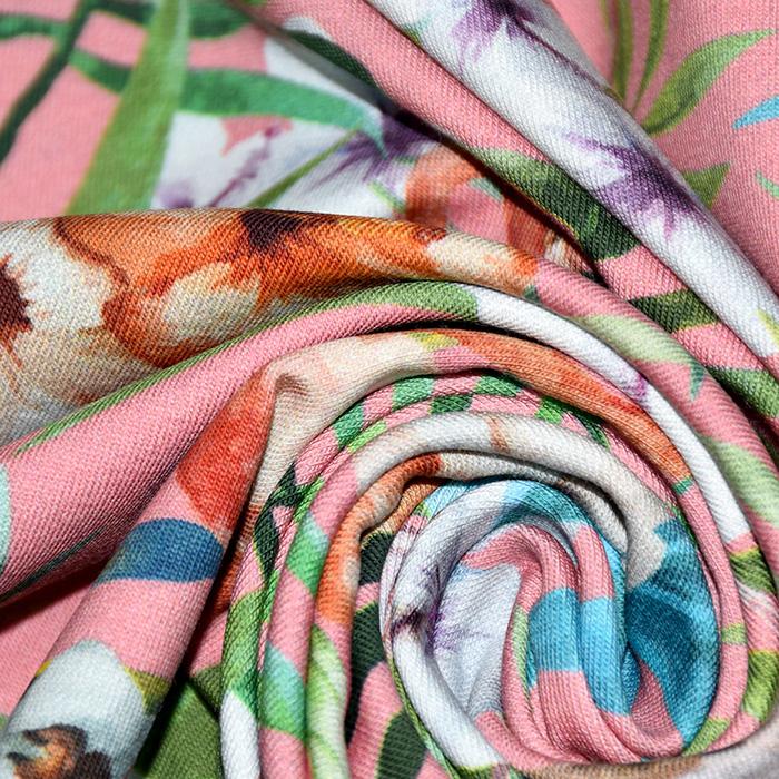 Jersey, bombaž, digital, živalski, 22523-007, roza