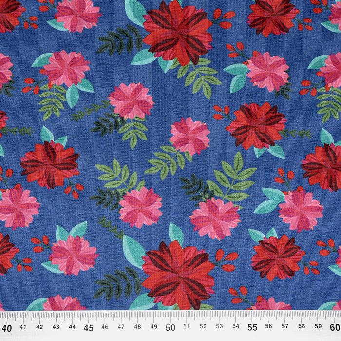 Jersey, bombaž, digital, cvetlični, 22524-005
