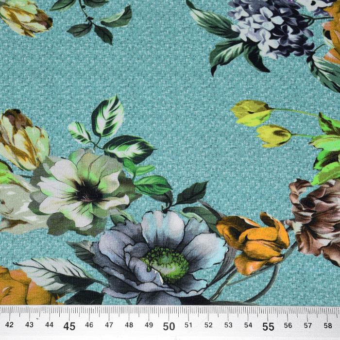 Jersey, bombaž, digital, cvetlični, 22528-004