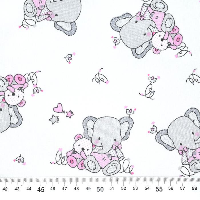 Bombaž, poplin, otroški, 22592, roza