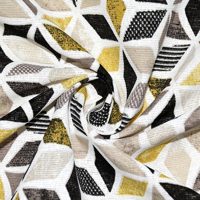 Deko, tisk, geometrijski, 22664, rumena