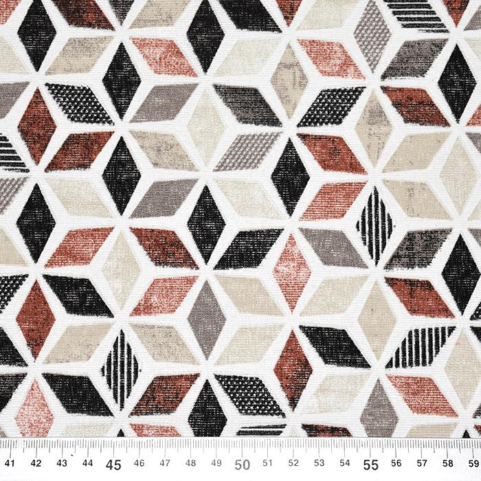Deko, tisk, geometrijski, 22666, opečna