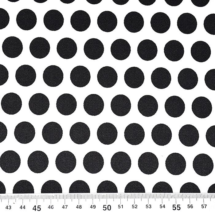Saten, bombaž, pike, 22675-7, črno-bela