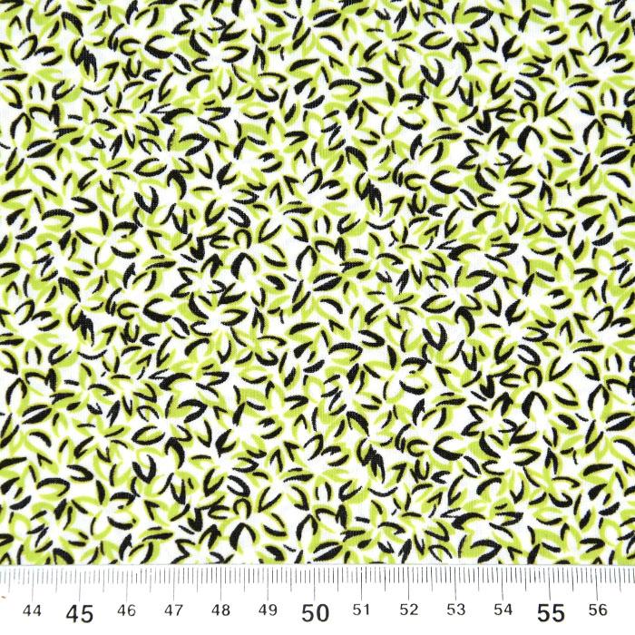 Jersey, viskoza, filamentna, cvetlični, 22686-104, zelena