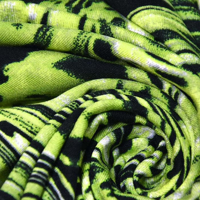 Jersey, viskoza, abstraktni, 22686-107, zelena