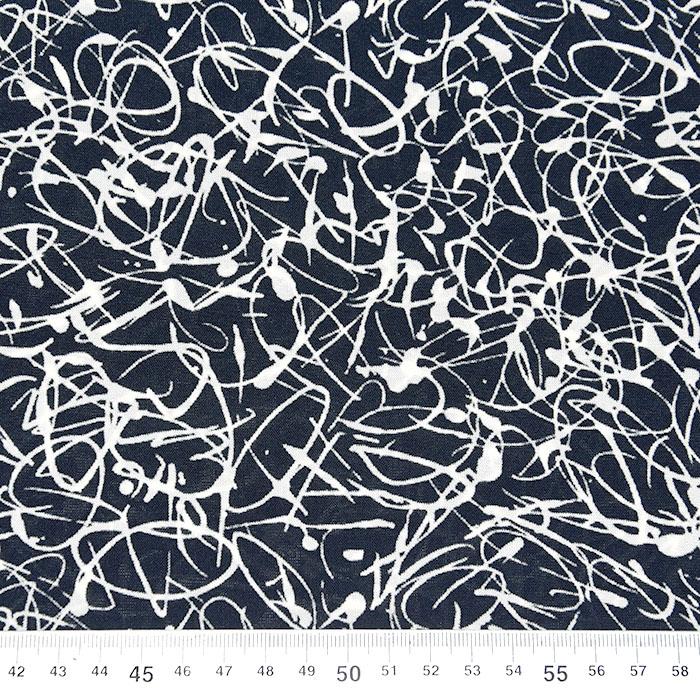 Jersey, viskoza, filamentna, abstraktni, 22686-130, temno modra