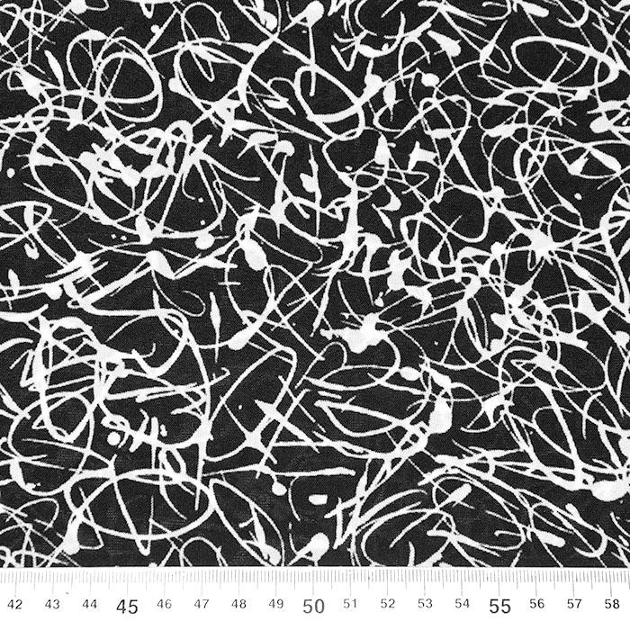 Jersey, viskoza, filamentna, abstraktni, 22686-131, črna