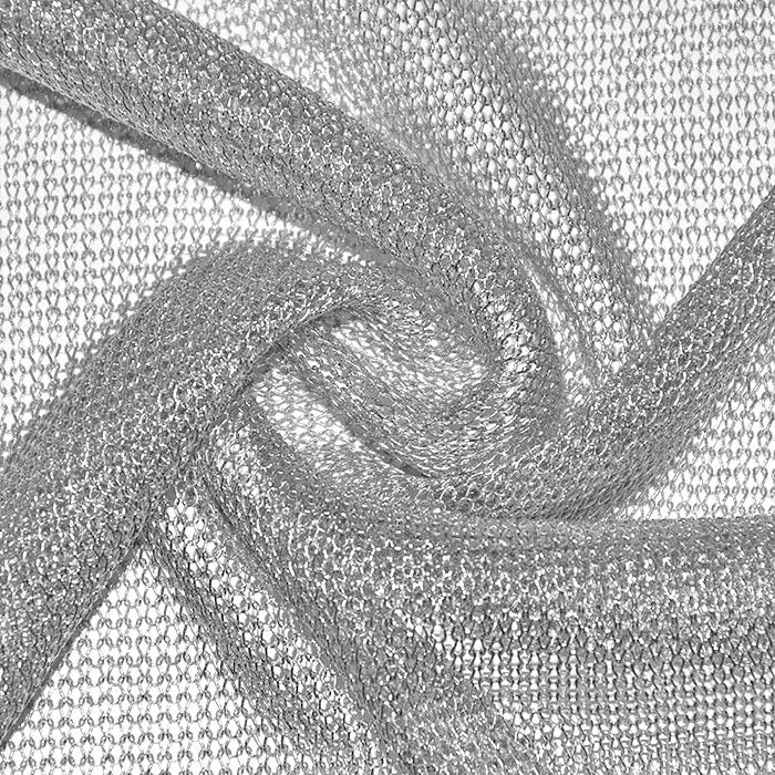 Pletivo, tanjše, poliester, 22578-2, srebrna