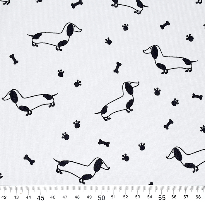 Jersey, bombaž, živalski, 22731-061, svetlo siva