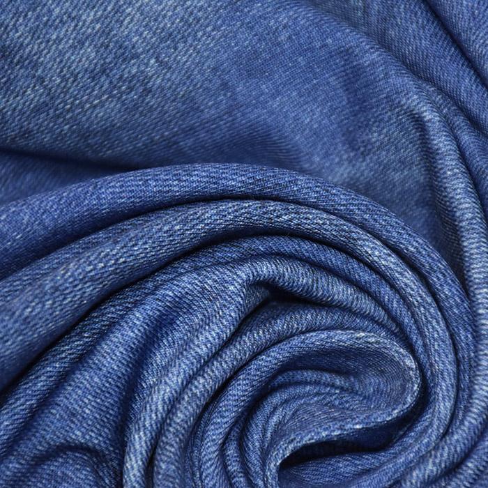 Jersey, bombaž, digital, jeans, 22733-008, temno modra