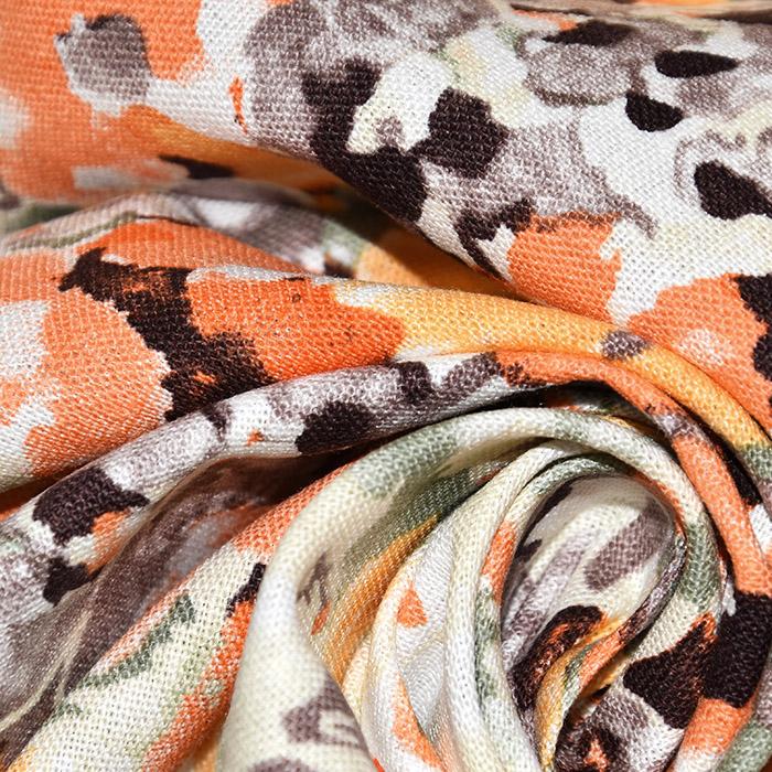 Lan, viskoza, abstraktni, 22746-036, oranžna