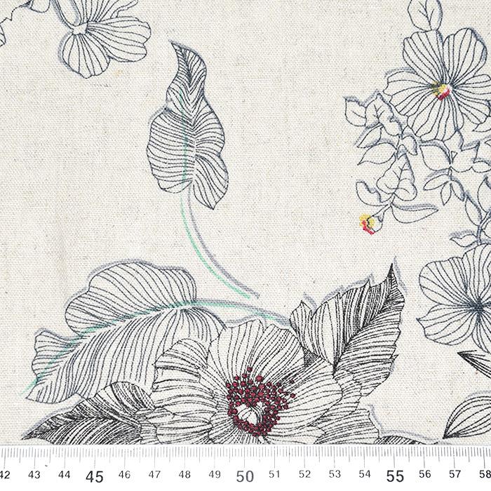 Lan, viskoza, cvjetni, 22747-151, bež