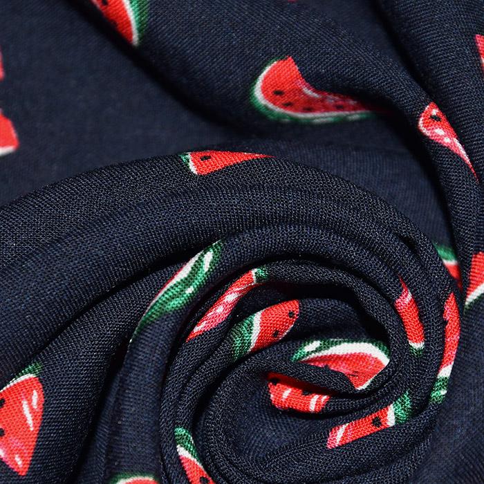 Tkanina, viskoza, sadje, 22751-008, temno modra