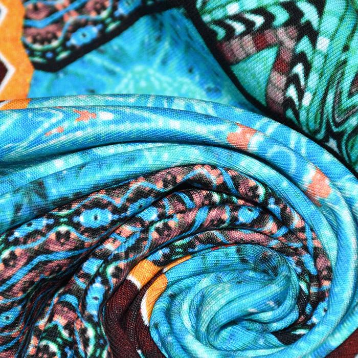 Jerse, bombaž, digital, orientalski, 22780-024, turkizna