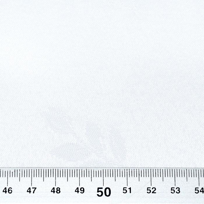 Damast, Ingrid, 320 cm, cvetlični, 22823, bela