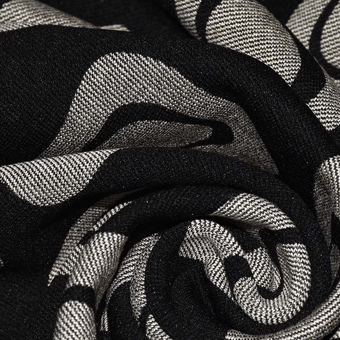 Pletivo, gosto, geometrijski, 22686-306, črna