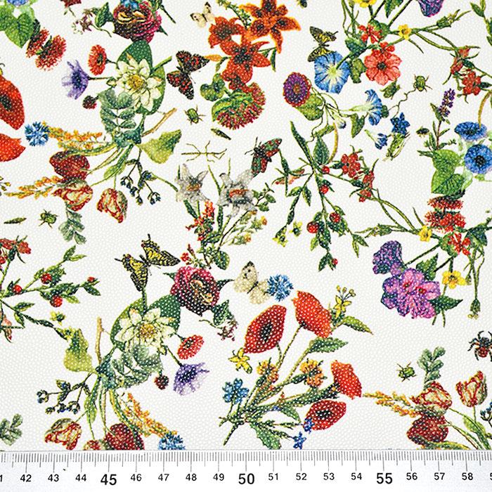 Umjetna koža Digital, cvjetni, 22705-3