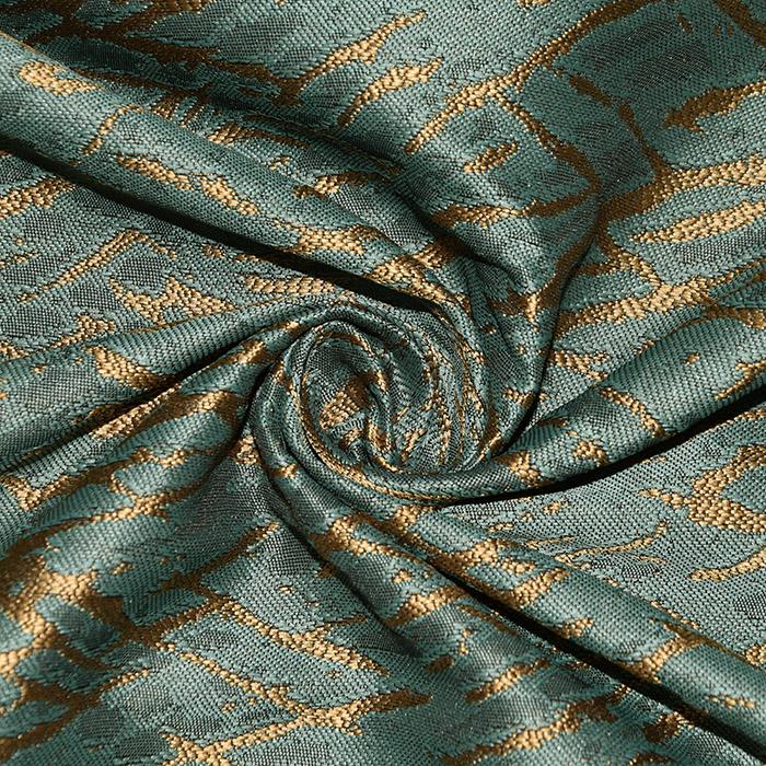 Deko žakard, obojestranski, stilni, 22880-50, zelena