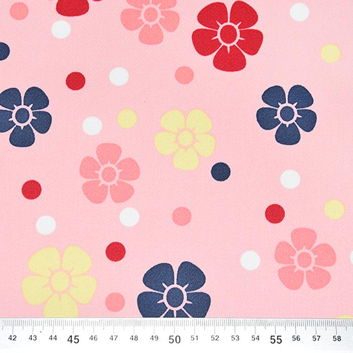 Saten, bombaž, cvetlični, 22521-5, roza