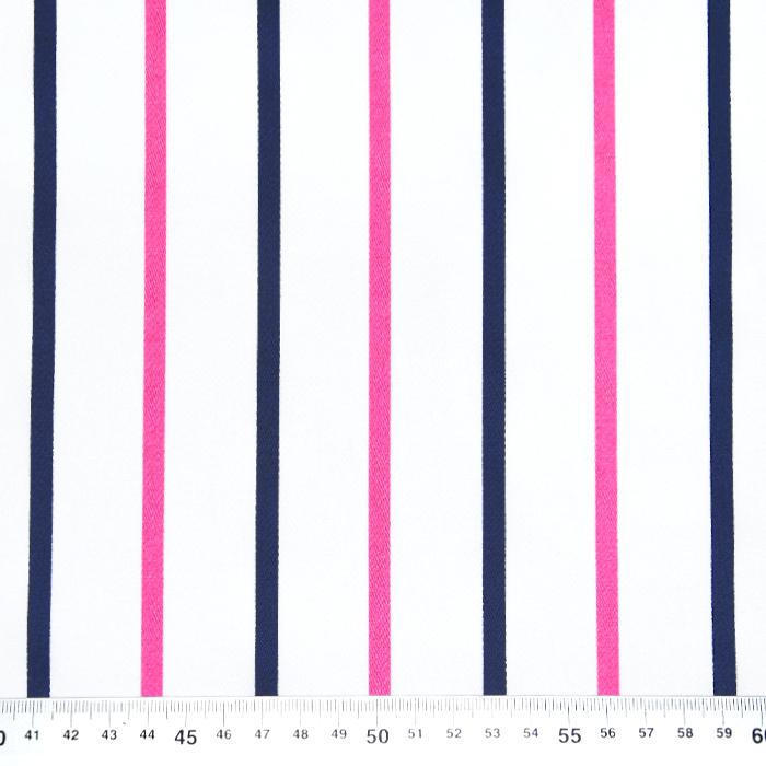 Saten, bombaž, črte, 22521-6, bela