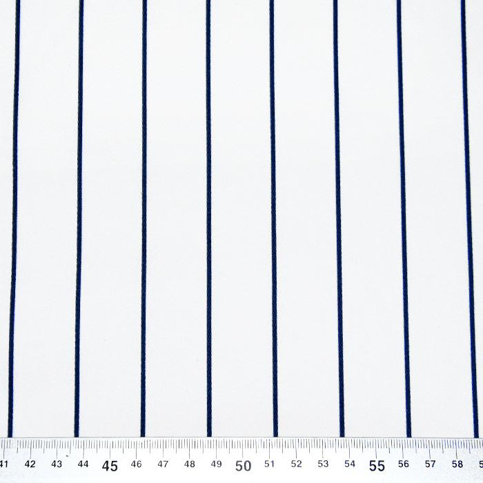 Saten, bombaž, črte, 22521-8, bela