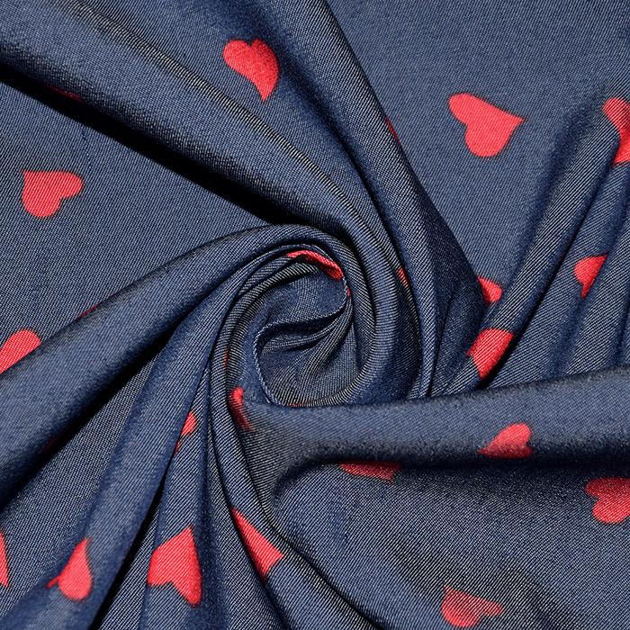 Jeans, srajčni, srčki, 22521-26, rdeča