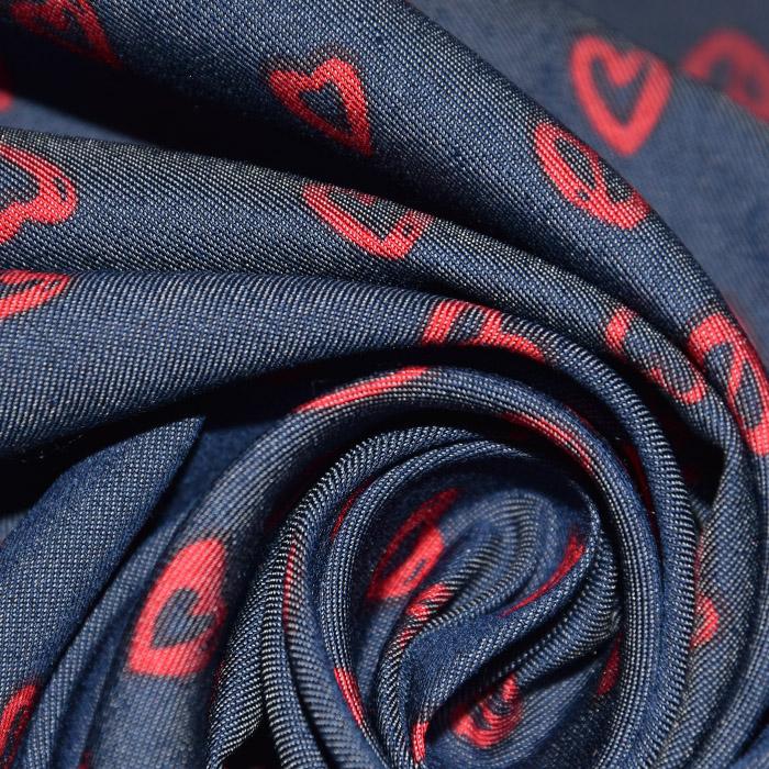 Jeans, srajčni, srčki, 22521-30, rdeča
