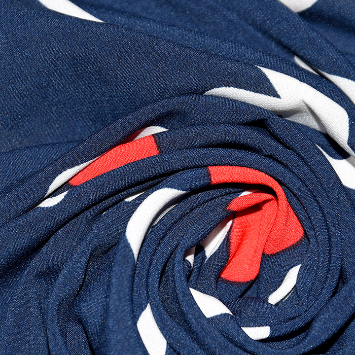 Tkanina, tanjša, srčki, 22521-31, modra