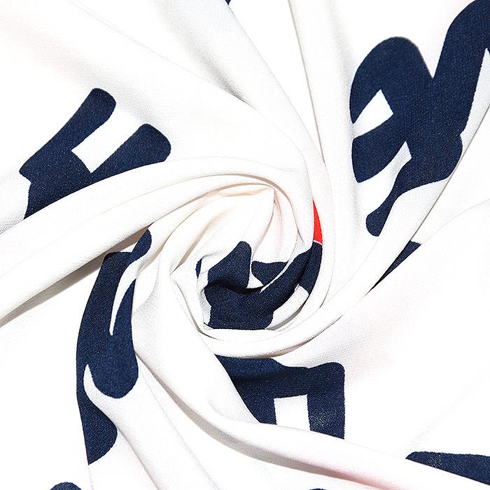 Tkanina, tanjša, srčki, 22521-32, bela