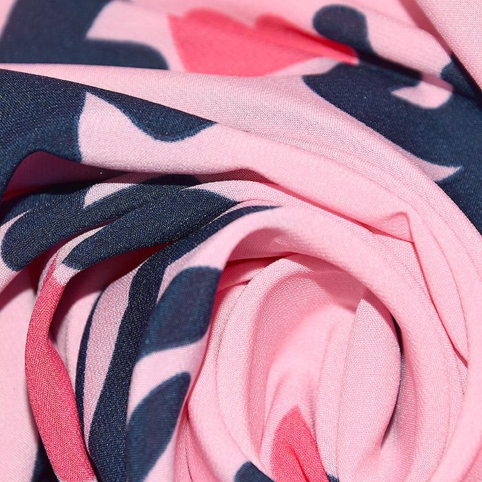 Tkanina, tanjša, srčki, 22521-34, roza