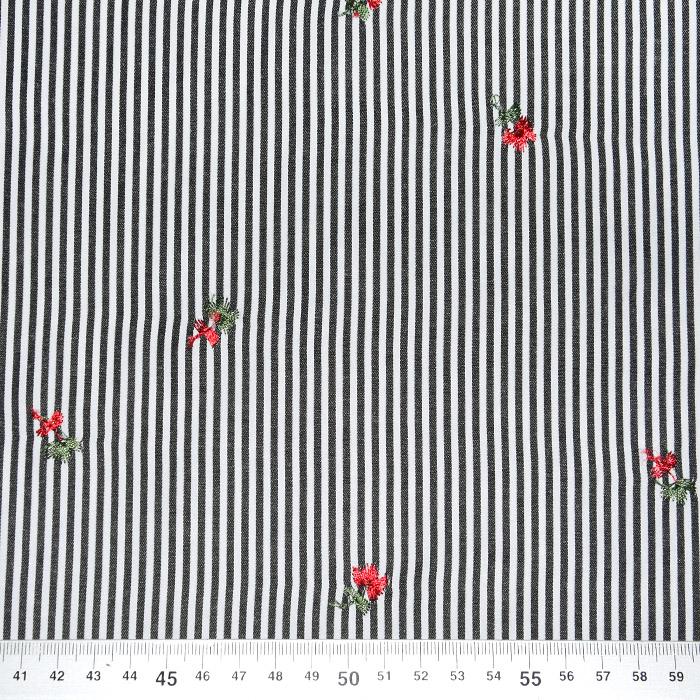 Tkanina, črte, 22521-35, črna